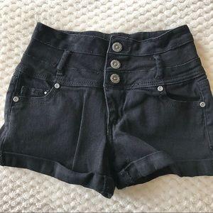 Black high waisted jean shorts Size 00